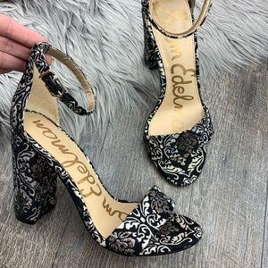 Sam Edelman 'Yaro' Brocade Block Heel Sandals